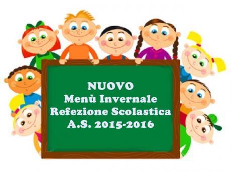 Nuovo Menù Invernale Refezione Scolastica
